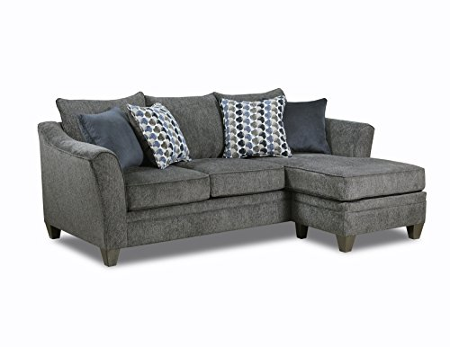 Simmons Upholstery 6485-03SC Albany Slate Sofa Chaise,