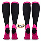 Compression Socks for Women & Men (2 Pairs), Deilin Graduated Compression Sock 20-30