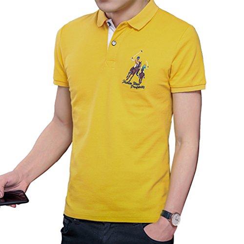 ポロシャツ メンズ 半袖 ビジネス カジュアル ゴルフ 刺繍 ゴルフウェア メンズ スポーツ 男性 夏 多色 軽量