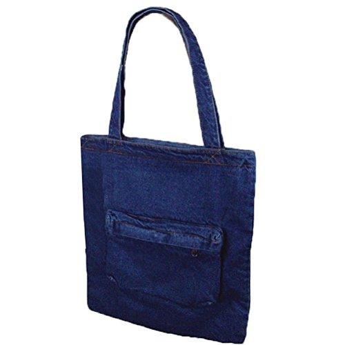 Denim Purse Blue Jean - Donalworld Women Front Pouch Retro Denim Cloth Shoulder Bag Blue