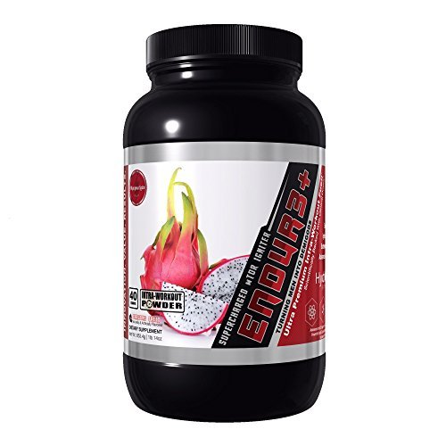 ENDUR3+ Intra-Workout BCAA's, EAA's, Carb-10, & Electrolytes Fuel (40 Scoops) Dragons Fruit by Olympus Labs
