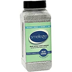 SMELLEZE Natural Dead Animal Smell Removal Granules- 50 lbs.: Eliminate Dead Rodent, Animal & Bird Smell. Safe for Outdoor Use