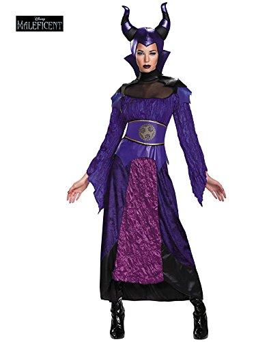 Adult Maleficent Deluxe Costumes (Disguise Women's Descendants Maleficent Deluxe Adult Costume, Multi, Medium)