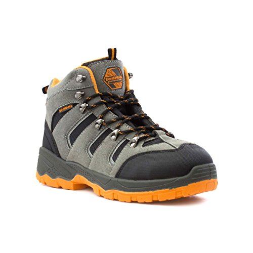 6f9d9ea50de4 Earth Works Mens Grey Lace up Safety Boot - Size 10 UK 11 US -