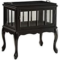 ACME Fidelia Black Console Table with Tray