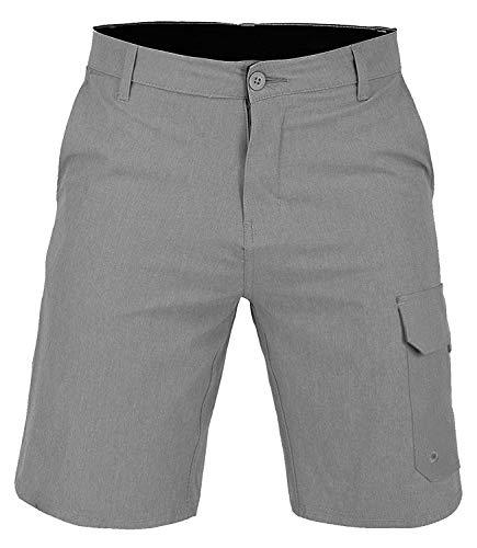 US Apparel Men's Amphibian Swim Shorts, Gray, 32
