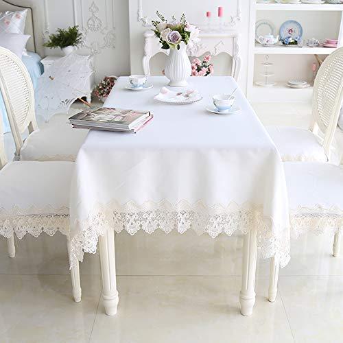 家の装飾布カバー ホームヨーロッパのロマンチックなレースサイドテーブルクロスコーヒーテーブルクロスホワイトダイニングテーブルとチェアクッションセット テーブルクロス (サイズ : (120*170cm)) (120*170cm)  B07RWM911D