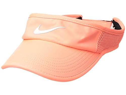 - Nike Women's Featherlight AeroBill Visor (Crimson Pulse/Black/White),One Size