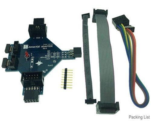 Maslin ATATMEL-ICE-ADPT AVR ATMEL-ICE JTAG JLINK SAM1 27 Cable ARDUINO -  (Color: Green)