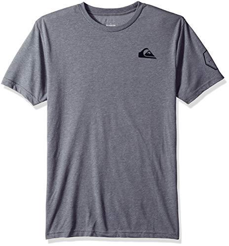 Quiksilver Men's Solid Left MGZ TEE Shirt, Medium Grey Heather, XL