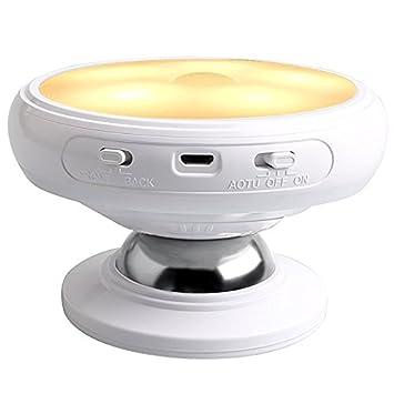 GUORZOM Sensor De Movimiento LED Luz Nocturna, Detección De Cuerpo, Luz De Pared Giratoria