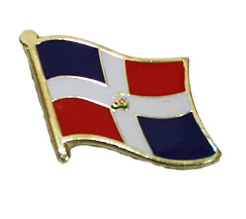 Ted and Jack - Show Your Pride in Your Nation Metal and Ceramic Lapel Pin - Dominican Republic - Republic Lapel Pin