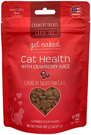Get Naked Urinary Health Crunchy Treats For Cats, Cranberries, 1 Pouch , 2.5 Oz