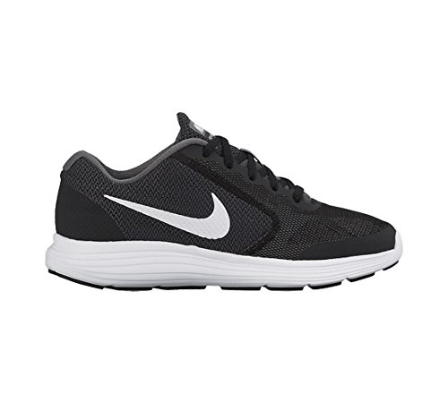 Nike Huarache Run (Ps), Zapatillas de Deporte para Niñas Grafito-Blanco-Negro