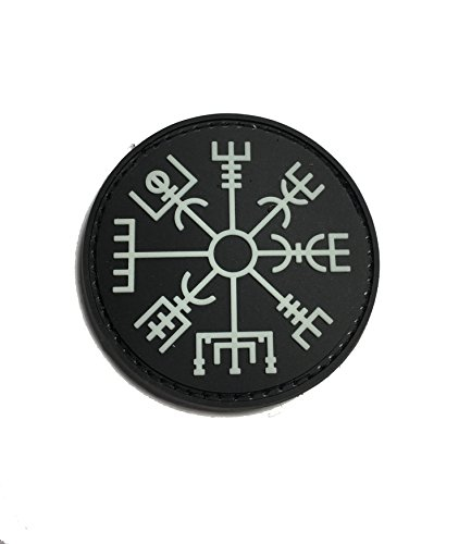 The Viking Vegvisir Rune - Glow in The Dark - Symbol of Protection During Journeys 2x2 PVC Morale Patch