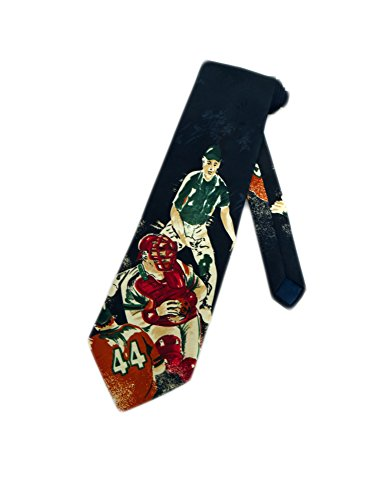 Studio 890 Men's Baseball Necktie - Black - One Size Neck Tie