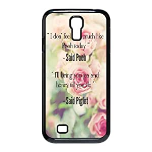 Diy Beautiful Quotes Sunflower Phone Case for samsung galaxy s4 Black Shell Phone JFLIFE(TM) [Pattern-1]