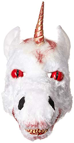 California Costumes Men's ANI-Motion MASK, Evil Unicorn, One Size ()