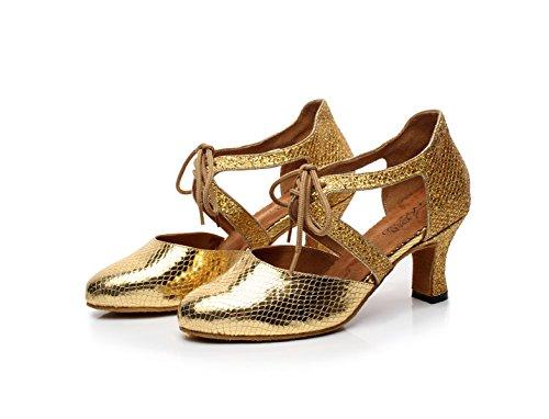 Mujer Baile Tacones De Para Punta Redonda Latino 5 Tango Jazz Sandalias UK5 Samba Our39 Salsa heeled7cm JSHOE Gold Chacha Altos De Zapatos EU38 Moderno EFanqE08