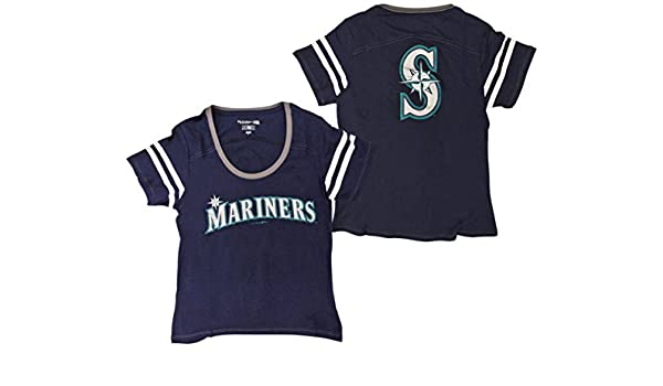 b9a9b4d4b Amazon.com   Seattle Mariners Women s Baby Jersey S S Scoop Neck   Sports    Outdoors