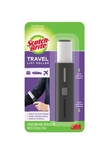 Scotch-Brite Mini Travel Lint Roller, 3 in x 8.5 ft, Assorted