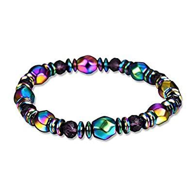 Magnetic Therapy Bracelet Multicolor Hematite Round Beads Healing Stone Therapeutic Health Care Bracelet