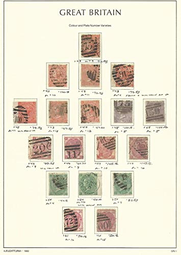 Great Britain Stamp Collection on Lighthouse Page 1865-73, 43//61 SCV $1422