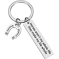 Horse Accessories Horse Stuff Gifts for Horse Lovers Keychain - Horses Aren't My Whole Life. They Make My Life Whole