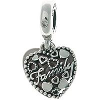 PANDORA Love Makes A Family Dangle Charm, Pink Enamel & Clear CZ 796459EN28