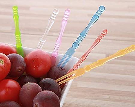 8pcs Fruit Picks Titanium Alloy Multifunction Practical Dessert Picks for Party