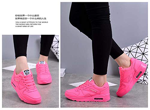 para Deportivos Deportivos Rojo Zapatos para otoño Mujer jóvenes 2018 Ligeros Transpirables Zapatos Zapatos GLSHI YSwngqpxE4