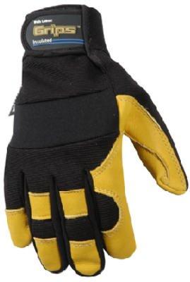 Wells Lamont Work Gloves with Grain Deerskin, Microlar 3, Spandex Back, G80 Thinsulate