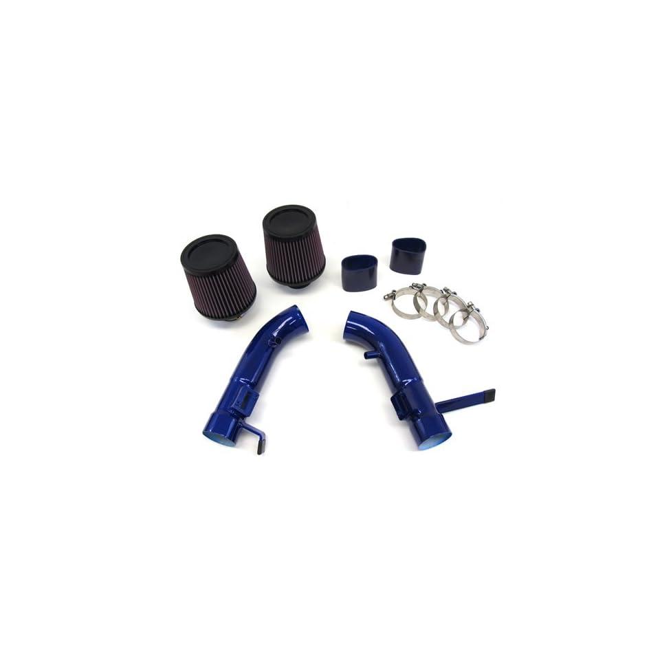 08 11 10 Infiniti G37 Coupe Short Ram Air Intake Kit Blue Pipe K&N Filter