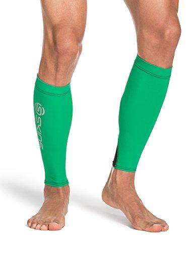 (Skins Unisex Essentials Compression MX Calf Tights, Green/Black, Medium)