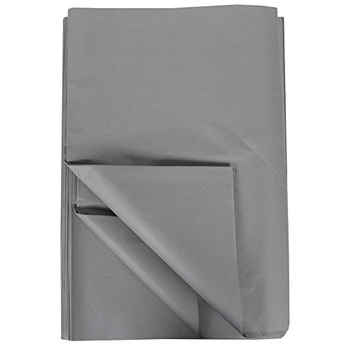 JAM Paper Tissue Paper - Gray - 480 Sheets/Ream by JAM Paper