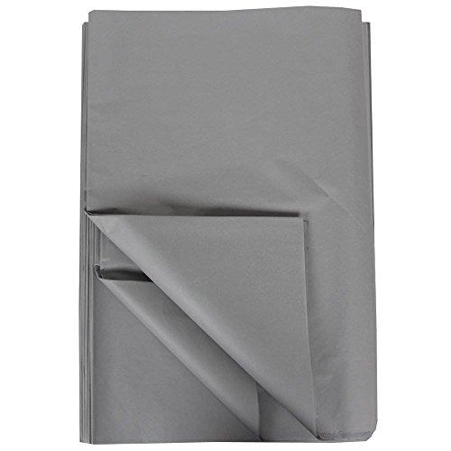 Platinum Wine Basket - JAM Paper Tissue Paper - Gray - 480 Sheets/Ream