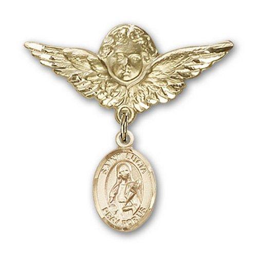 Icecarats Or Bijoux De Créateurs Rempli R. Lucie De Syracuse Charme Ange Broche De Badge 1 1/8 X 1 1/8