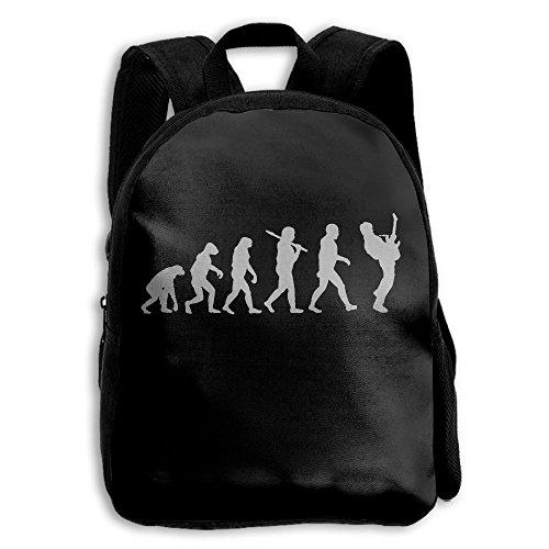 HFIUH5 Guitar Player Evolution Funny Printing Backpack School Book Bag Boys Girls Daypack Travel Bag For Kids