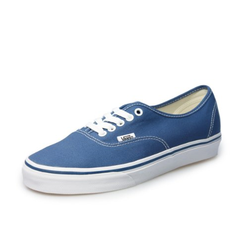 Vans Authentic Unisex Navy White Canvas Vulcanised Skate Trainers Shoes VEE3NVY-UK 4