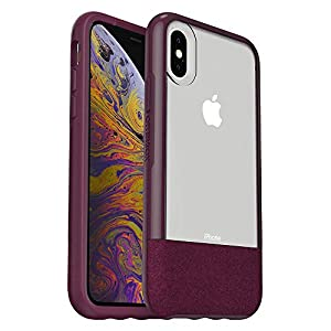 OtterBox Clear & Felt Case for iPhone Xs – LUCENT MAGENTA (CLEAR/BOYSENBERRY/ORCHID)