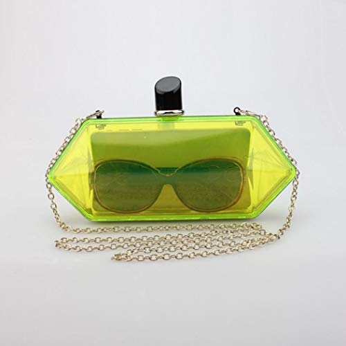 Handbag Evening Clutches Fluorescent Purses Bride Womens Candy Color Wedding Yellow tI0qZ