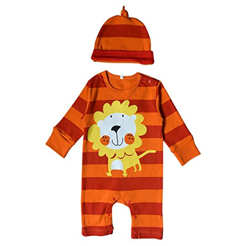 18 Month Old Lion Costume (YISUMEI Unisex Baby Costume Set Romper Bodysuit Jumpsuit Cute Lion 18 Months)