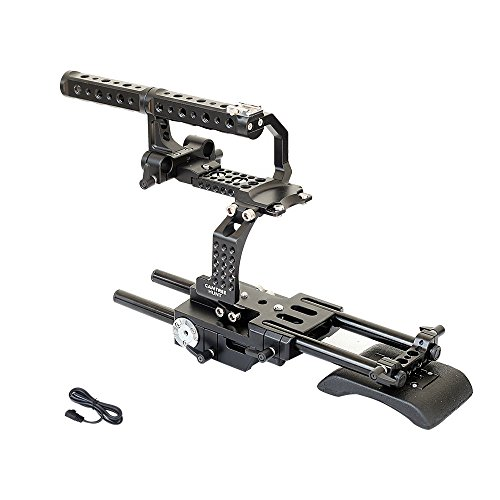 CAMTREE Hunt FS700 Camera Cage Rig with Top Handle & Shoulder Pad for Sony Nex FS700 | Free Storage Cage & Accessories (CH-FS700-C) by Camtree