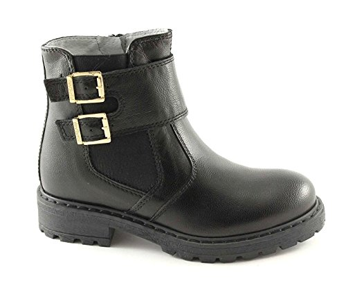 Nero Giardini Black Gardens Junior 31202 35/39 Schuhe Stiefel Biker Mädchen Schnalle Reißverschluss Nero
