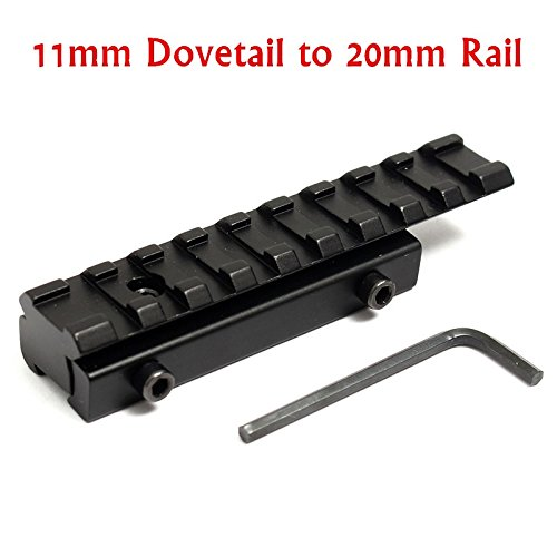 Money coming shop Hot Sale Aluminum Alloy 11mm to 20mm Dovetail Weaver Picatinny Rail Adapter Converter Mount Scope Base Adapter with Allen Wrench