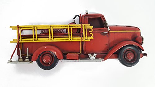 - Half Metal Fire Truck Decoration Wall Decor