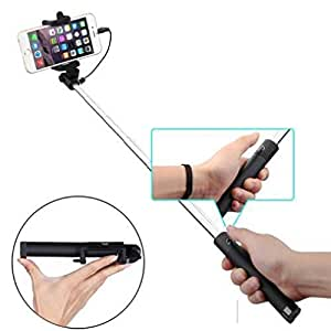 selfie stick extendable monopod compact wired w built in remote s. Black Bedroom Furniture Sets. Home Design Ideas