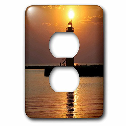 (3dRose lsp_91212_6 Mi, Muskegon Lighthouse On Lake Michigan Us23 Rer0002 Ric Ergenbright 2 Plug Outlet Cover)