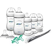 Philips Avent Natural Bpa Free Baby Bottle Newborn Starter Gift Set, Scd296/03, White