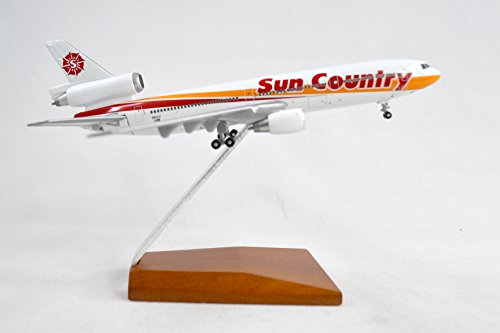 Geminijets Sun Country Mcdonnell Douglas Dc 10 15 Diecast Airplane Model N154sy With Stand 1 400 Scale Part  Gjscx240